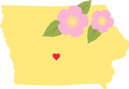Show your love for your favorite state and its flower. Illusztráció