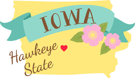 Show your love for your favorite state and it's flower.