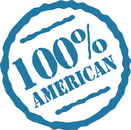 Sea orgulloso y comprar americano hizo! Foto de archivo - 43916841