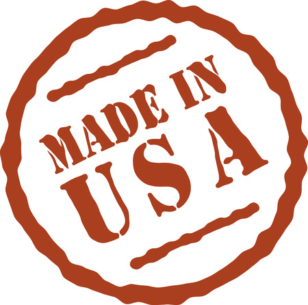 Be proud and buy American made! Illustration