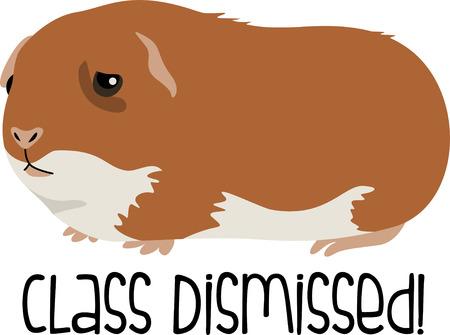 사랑스러운 기니 돼지 귀여운 애완 동물이다. 일러스트