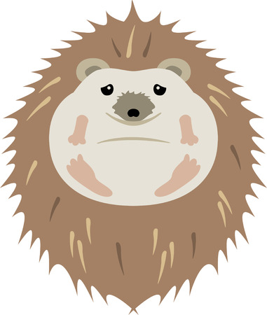 porcupine: Accent a nature project with a cute hedgehog. Illustration