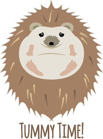 Accent a nature project with a cute hedgehog. Ilustrace