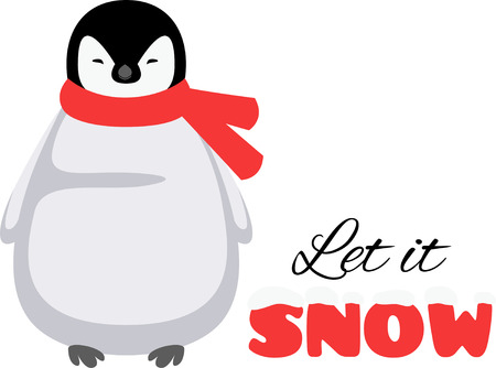 wonderful: Penguins are a wonderful winter time accent. Illustration