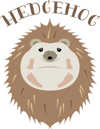 Accent a nature project with a cute hedgehog. 向量圖像