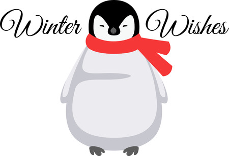 Penguins are a wonderful winter time accent. Illusztráció