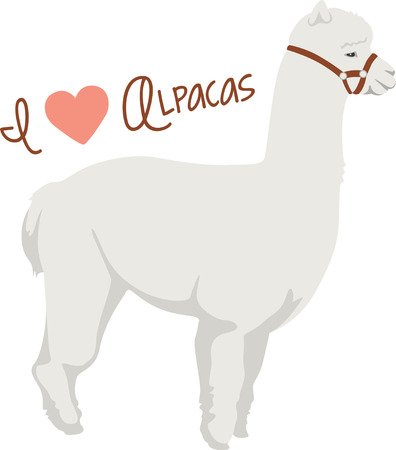 An alpaca is a wonderful animal for a south American themed project. Иллюстрация