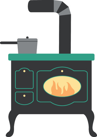 偉大なビンテージ ストーブは、任意の台所で大きなになります。  イラスト・ベクター素材