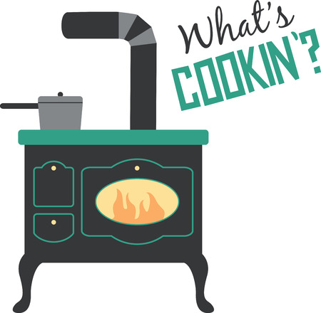 oven range: A great vintage stove will look great in any kitchen.