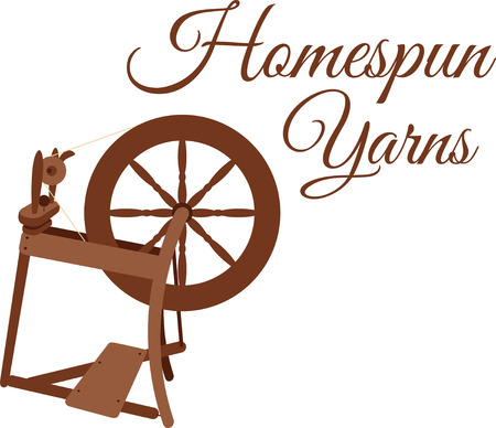 Show how you make your own yarn with a spinning wheel.