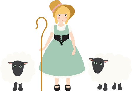 rhyme: A nursery rhyme will make a great decoration in a childs room. Illustration