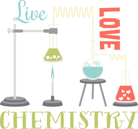 vials: If you like science you will love this chemistry experiment. Illustration