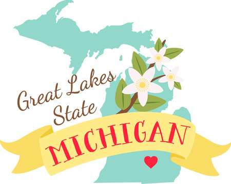 pg: Show your love for your favorite state and its flower. Illustration