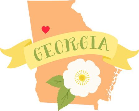あなたのお気に入りの州およびそれの花のあなたの愛を表示します。