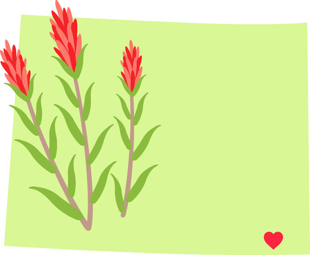 Show your love for your favorite state and its flower. Çizim