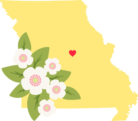 Show your love for your favorite state and its flower. 向量圖像
