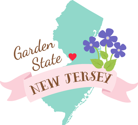 jersey: Show your love for your favorite state and its flower. Illustration