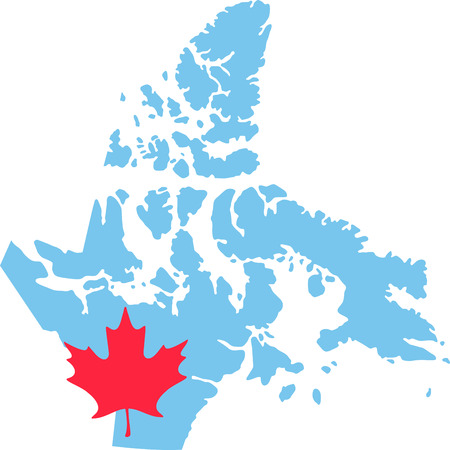 Learn all you wanted to know about Nunavut  Canada Map Maple leaf with pictures by Hopscotch!