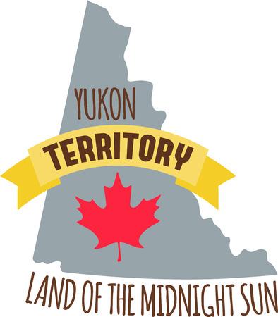 유콘 준주에 대해 알고 싶었던 모든 것을 배우십시오 Canada Map Hopscotch의 사진이 담긴 단풍 나무 잎