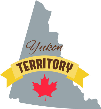 Learn all you wanted to know about Yukon Territory Canada Map Maple leaf with pictures by Hopscotch Illustration