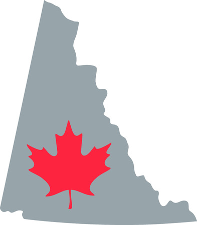 yukon territory: Learn all you wanted to know about Yukon Territory Canada Map Maple leaf with pictures by Hopscotch Illustration