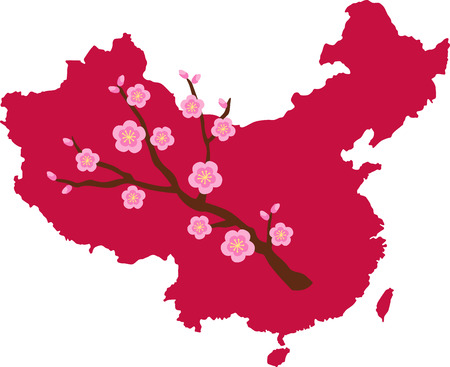 hopscotch: Learn all you wanted to know about China with the floral blossom image by Hopscotch!