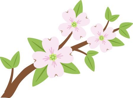 Give your garden a beautiful and colorful touch with this Dogwood Flowers designed by Hopscotch.
