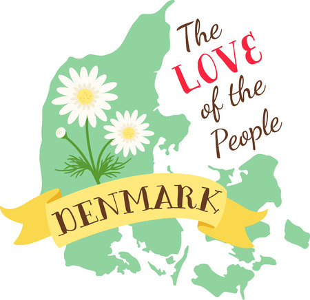 Learn all you wanted to know about Denmark with the floral image by Hopscotch!