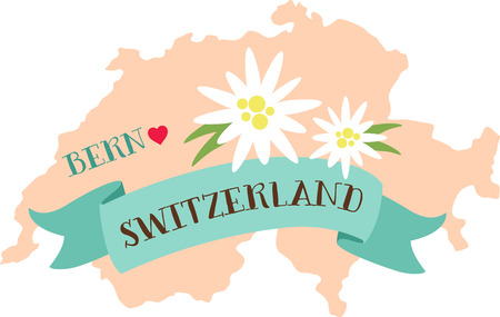 La Suisse est un pays où très peu de choses commencent, mais beaucoup de choses la fin. Banque d'images - 43917289