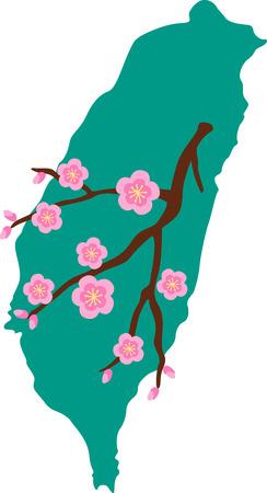 Mijn favoriete ding over Taiwan is het eten. Stock Illustratie