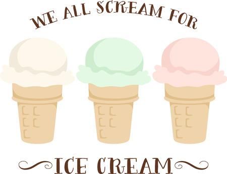 Kids love a snack of delicious ice cream.