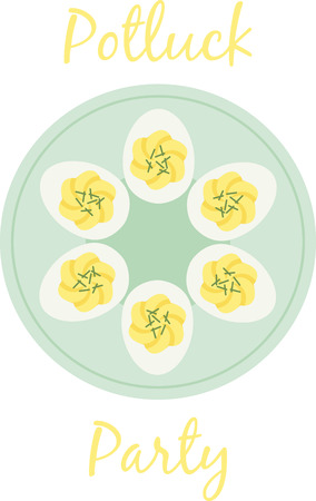 Deviled eggs are perfect for the Easter meal. Stock Vector - 43917454