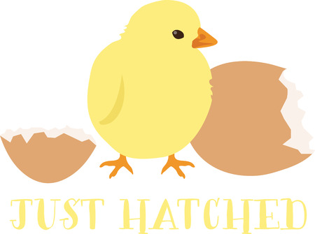 This cute chick is perfect for your Easter design. Illustration