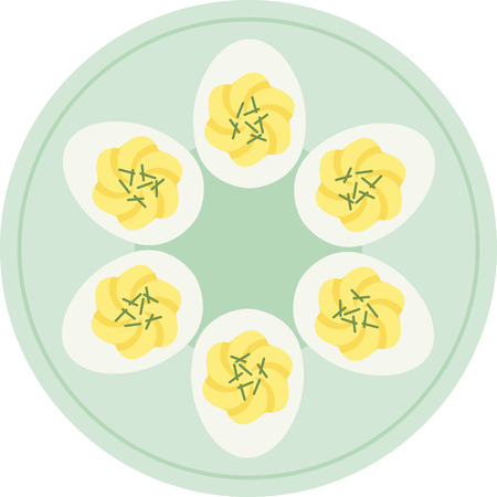 Deviled eggs are perfect for the Easter meal. Stock Vector - 43917471