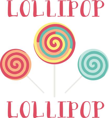 Kids love a delicious lollipop.