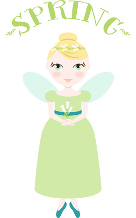 fairy: An pretty fairy will welcome in spring.