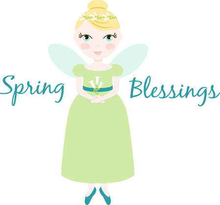 An pretty fairy will welcome in spring.