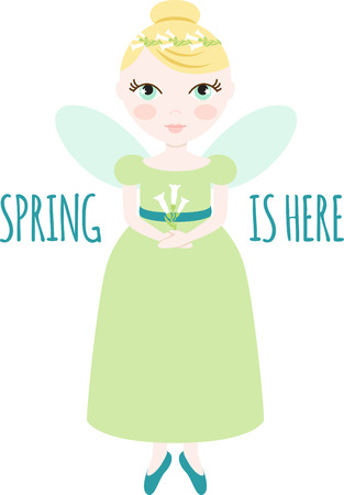 faerie: An pretty fairy will welcome in spring.