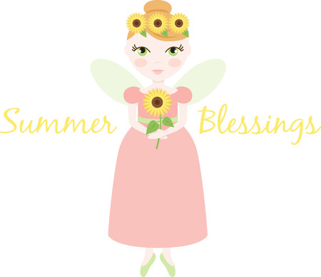 fairy: An pretty fairy will welcome in summer.