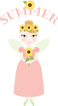 wee: An pretty fairy will welcome in summer.