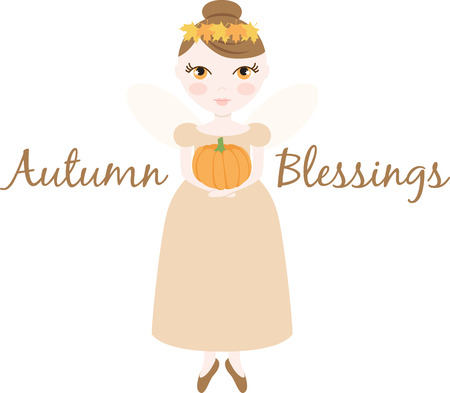 blessings: An pretty fairy will welcome in autumn