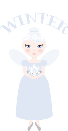 An pretty fairy will welcome in winter.