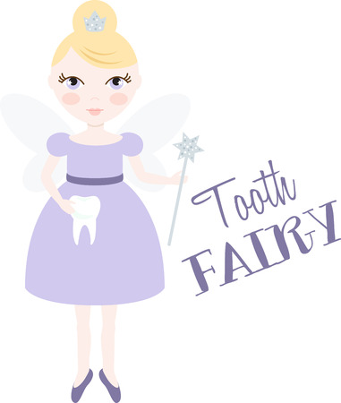 wee: An pretty fairy will welcome in winter.