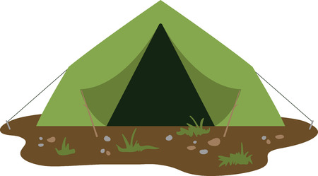 Make a nice tent for a camping adventure. 向量圖像