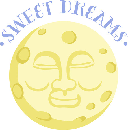 A happy faced moon will make a nice design on a childs pajamas.