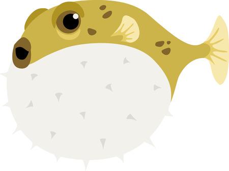 pez globo: Un pez globo es un pez divertido para un proyecto de playa.