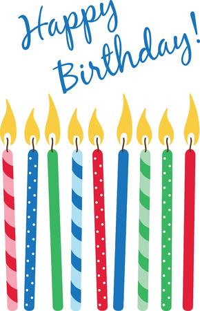 Verwenden Sie diese Kerzen für eine Geburtstags-Projekt. Standard-Bild - 43917589