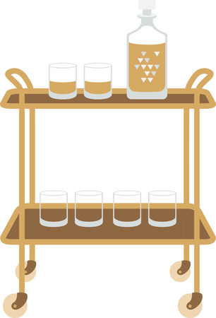 scotch: Use this whiskey cart for a bartender.