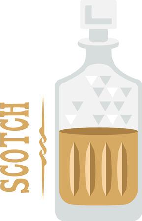 booze: Use this liquor design for a bartender towel.