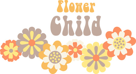 Use this floral border on a shirt. Иллюстрация